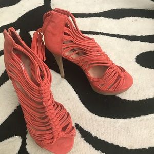 H By Halston Coral Heels 6